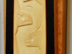 Orca Yellow Cedar Paddle (detail)
