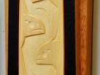 Orca Yellow Cedar Paddle (detail)