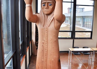 Salish Welcome Figure, 2011, with Susan Point, Douglas College, New Westminster